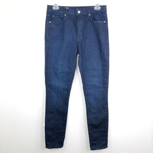 Gap 1969 Dark Blue High Rise Skinny Jeans 27R